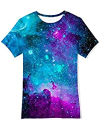 afe631f3c6712 RAISEVERN drôle Enfants Unisexes 3D imprimé T-Shirts Casual Tops Tees Cool  Manches Courtes pour Les garçons Adolescents Filles 6…
