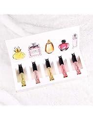 5pcs/satz Männer Damen Portable Parfüm Set Blume Duft Parfümiert Probe Geschenkbox Set