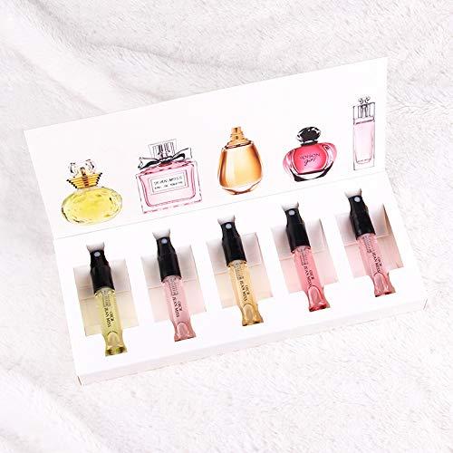 ble Parfüm Set, Blume Duft Parfümiert Probe Geschenkbox Set 5 Teile/satz Weiß ()