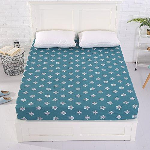 Alicemall 100% Baumwolle Spannbetttuch 150x200x30 cm Spannbettlaken Betttuch für Wasser- und Boxspringbett, Spannbetttuch