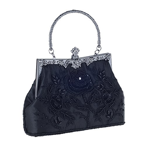 MOGOR, Poschette giorno donna blu Blue medium Black