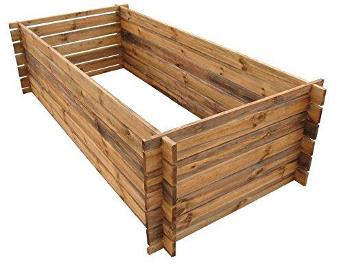 naturholz-shop Stabiler Holzkomposter Komposter Kompostbehälter Hochbeet 170 x 85 x 52 cm 19 mm