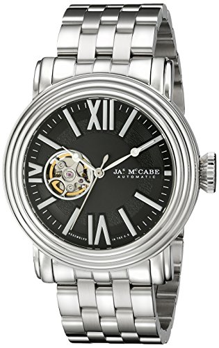 James McCabe Men's JM-1018-11 Victory Analog Display Japanese Automatic Silver Watch