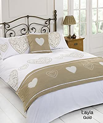 Layla Gold Quilt Bed in a Bag set - Single Double King Size Super King Size