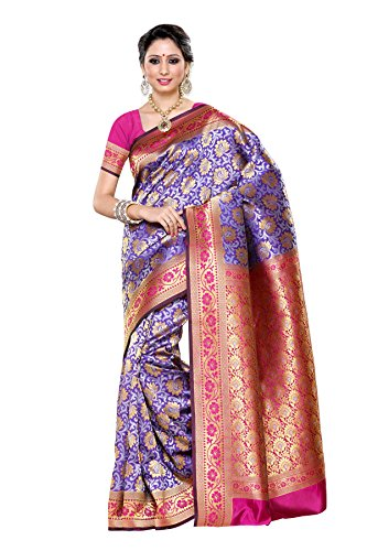 Mimosa Women's Traditional Art Silk Saree Kanjivaram Style, color :Voilet(3255-R3-SL-VOIL-RANI)  available at amazon for Rs.2099