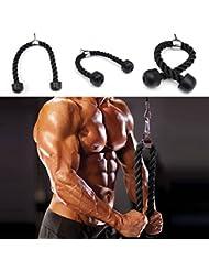ewinever(TM) 1pcs hombre Pesado tríceps Cuerda Accesorio culturismo plástico Fin Lat Cable Gimnasio Fit