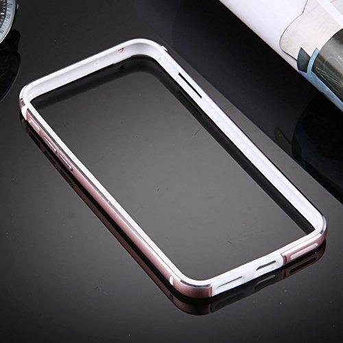 Hülle für iPhone 7 plus , Schutzhülle Für iPhone 7 Plus TPU + Aluminiumlegierung Stoßfänger ,hülle für iPhone 7 plus , case for iphone 7 plus ( Color : Silver ) Rose gold