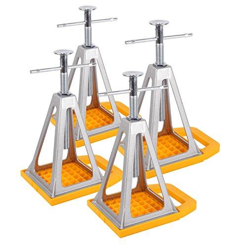 Camco Stützbock, Unterlegplatten 4er Set - höhenverstellbar 28-43 cm, Tragelast 2722 Kg für Wohnwagen oder Anhänger