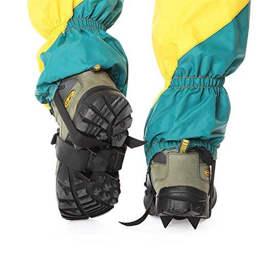 Baisde EIS Crampons 4 Zähne Krallen Leichte Tragbare Rutschfeste Schuhe Abdeckung für Outdoor Ski Schnee Wandern Klettern