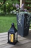 Romantisch dekorative XL - LED Laterne mit Tür aus Metall