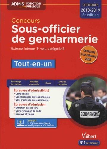 Concours Sous-officier de gendarmerie Externe, interne et 3e voie, catégorie B : Tout-en-un