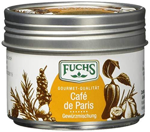 Fuchs Gewürze Café de Paris Gewürzmischung - holt den Geschmack Frankreichs auf den Teller in der dekorativen Dose, 3er Pack (3 x 50 g)