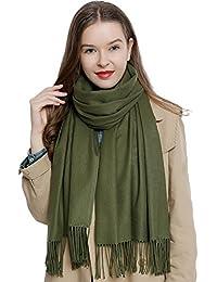 e3e447f0c38 DonDon Grande écharpe d hiver femme 185 x 65 cm uni doux et chaud