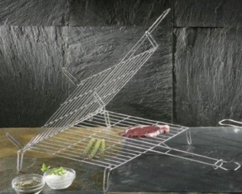 La Idéal étamé double barbecue grill, 30 x 35 cm
