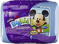 Huggies Pull-Ups Big Kid Flushable Wipes, 51 count (Pack of 2)