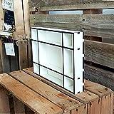 DEKOLANDO Setzkasten - Größe (B x H x T) ca. 33,5 x 22,5 x 4,5 cm - im Vintage Landhausstil - Sammlerbox Sammlervitrine Sammlerkasten