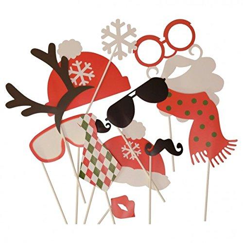 Weihnachten Photo Booth - Christmas Foto Verkleidung Foto Requisite (Weihnachten Masken)