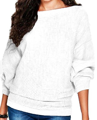 Tootlessly Women's Fall Winter Fashional Dolman Sleeve Jumper Pullover