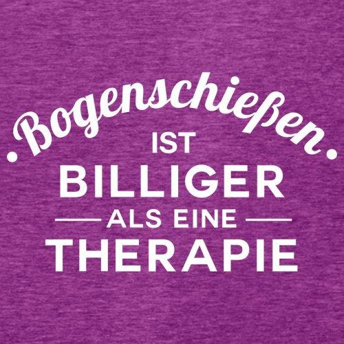 Bogenschiessen ist billiger als eine Therapie - Damen T-Shirt - 14 Farben Beere