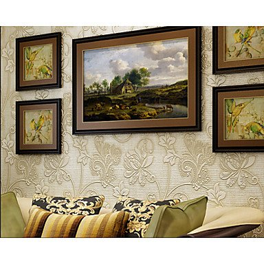 zhENfu Wallpaper 3D Accueil pour revêtement mural contemporain textile non-tissé adhésif Matériel nécessaire papier,Jaune Lumière