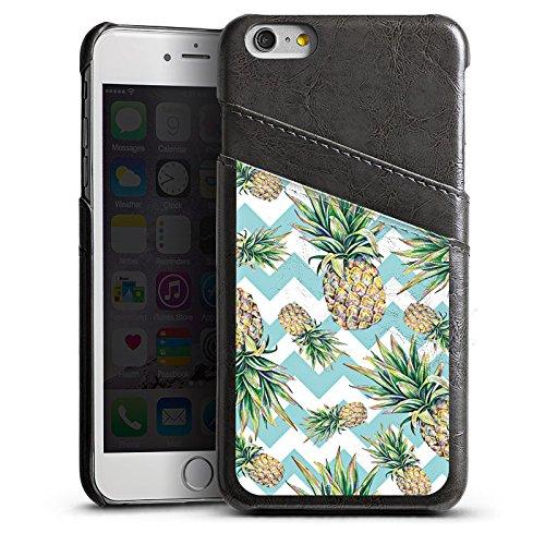 Apple iPhone 5s Housse Outdoor Étui militaire Coque Ananas Motif Motif Étui en cuir gris