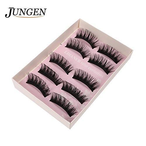 n Professional Damen Künstliche Wimpern Fake Lashes für Make-up Eyelasches (Junge Make Up)