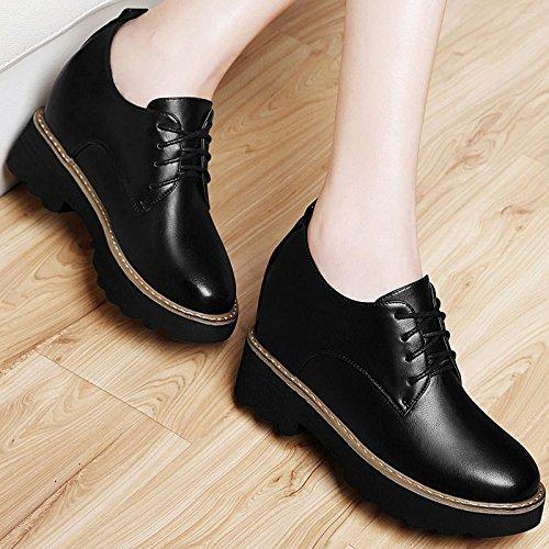 Khskx-rise Of Shoes Automne Et Hiver Avec Coréen Sont Casual Cachemire Chaussures Pour Hiver Muffin 36 Noir Trente-six