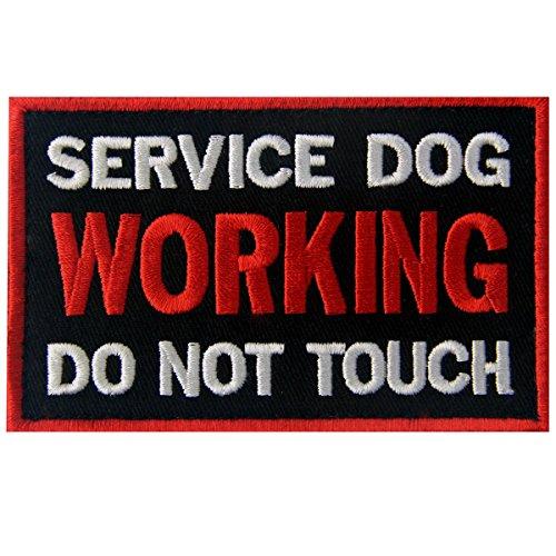 Service Dog Working Do Not Touch Westen/Gurte Service Hund Emblem Bestickter Aufnäher mit Klettverschluss (Hund-therapie-ausrüstung)