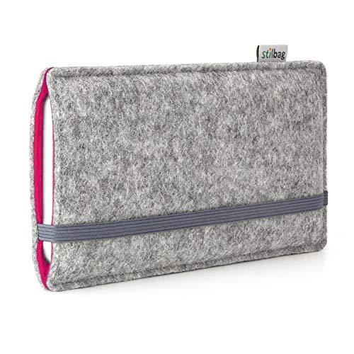 Stilbag Filztasche \'Finn\' für Apple iPhone SE - Farbe: hellgrau/pink