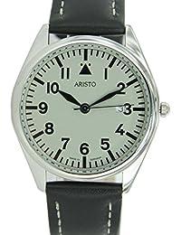 Aristo 4H155 - Reloj para hombres, correa de cuero