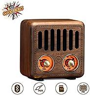 Retro Radio, Vintage Bluetooth Speaker, Greadio Walnut Wooden FM Radio with Bluetooth 4.2, Old Fashioned Class