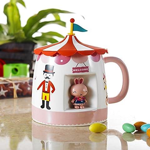 Panbado 450ml 3D Mug Tasse à Café Thé Eau Lait