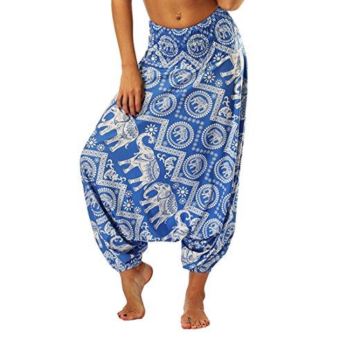 Elefantes Para Mujer Estampado Aladdin Harem Pantalones De Hippie Mono