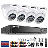 SANNCE ANNKE Système de Caméras CCTV 8 Canaux 1080P H.264+ DVR et 4×1080P Starlight DE-Noise FHD Caméras Bullet,Alerte par courrier électronique avec des instantanés,sans Disque Dur