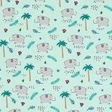 Fabulous Fabrics Baumwolljersey niedliche Elefanten –