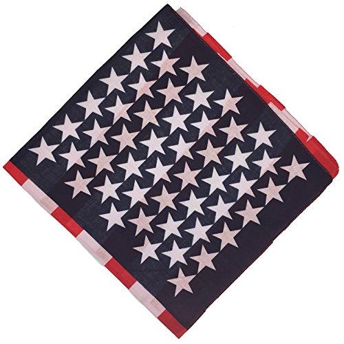 vard® TM Bandanas 100% Baumwolle (American Flag) (Flag Bandana)