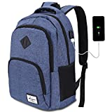 AUGUR Laptop Backpack,Unisex 35L Business Notebook Backpack with USB Charging Port Water Resistant