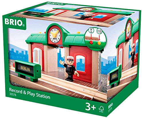 BRIO World  - 33578 - GARE PRINCIPALE A ENREGISTREUR VOCAL