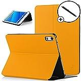 Forefront Cases® Lenovo Tab 4 8 Plus Smart Case Cover Custodia Caso Conchiglia - Ultra Sottile con Protezione Dispositivo Completa e funzione Auto Sveglia/Sonno + STILO (GIALLO)