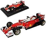 Bburago Ferrari SF16-H Sebastian Vettel Nr 5 Formel 1 2016 1/18 Modell Auto mit individiuellem Wunschkennzeichen