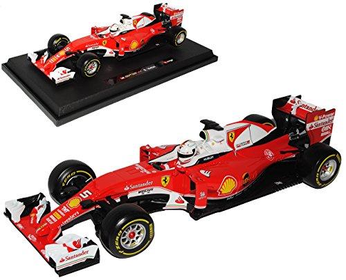 Ferrari-SF16-H-Sebastian-Vettel-Nr-5-Formel-1-2016-118-Bburago-Modell-Auto-mit-oder-ohne-individiuellem-Wunschkennzeichen