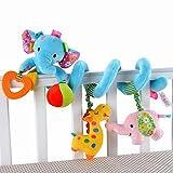 Elefant-Entwurf Säuglings-Baby-Activity-Spirale Bed & Kinderwagen Spielzeug-Bett rattert Glocke hängen Krippe Spielzeug, Blau