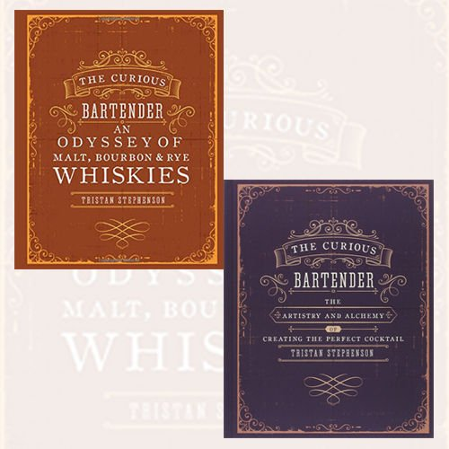 Tristan Stephenson 2 Books Bundle Collection (The Curious Bartender - The artistry and alchemy of creating the perfect cocktail, The Curious Bartender: An Odyssey of Malt, Bourbon & Rye Whiskies)