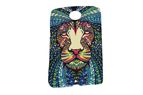 Aztec Animal Lion Designer Print Snap-On Hard Slim Back Flexible Bumper Case Cover For Motorola Google Moto E  available at amazon for Rs.149