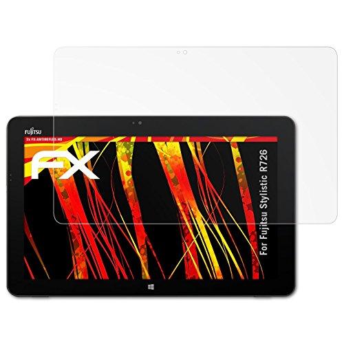 atFolix Schutzfolie kompatibel mit Fujitsu Stylistic R726 Bildschirmschutzfolie, HD-Entspiegelung FX Folie (2X)