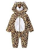 Baby Winter Jumpsuit Onesies Pyjamas - Kinder Niedliche Hoodie Strampler Unisex Baby Body Outfits (Leopard 100cm)