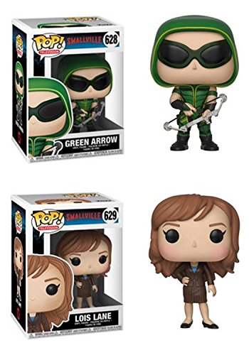 FunkoPOP Smallville Green Arrow Lois Lane Stylized TV Vinyl Figure Bundle Set NEW