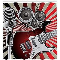 Mikrofon Rockabilly Retro Leinwandbild Wanddeko Kunstdruck