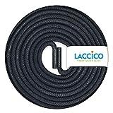 LACCICO Finest Waxed Laces - Durchmesser 2,5 mm, robuste gewachste premium Schnürsenkel; Farbe:Dunkelblau, Länge:75 cm