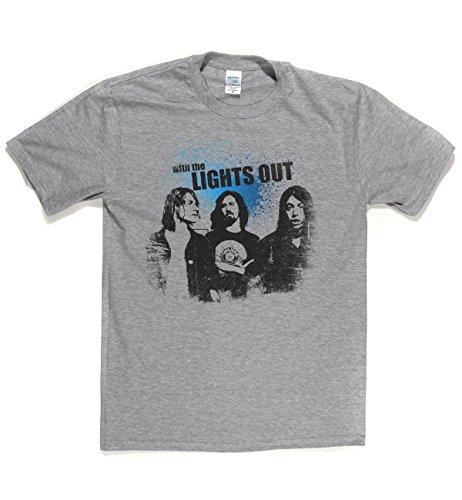 Lights Out Classic Rock Musik Legends Retro-T-Shirt Sports Grau